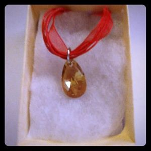 Jewelry - Summer Gold Crystal Teardrop Necklace
